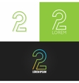 Number two 2 logo design icon set background vector image vector image