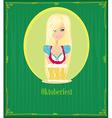 Oktoberfest waitress vector image vector image