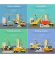Process of Construction Residential Houses vector image vector image