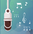 radio microphone retro hanging icon vector image vector image