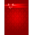 Red christmas holiday background with ribbon vector image vector image