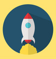 rocket icon in flat design startup vector image
