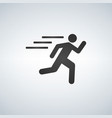 runnin man icon on white background fitness vector image vector image