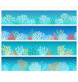 seaweeds and corals banner set vector image