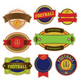 set colorful football labels and badges vector image vector image