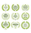 set of laurel wreath templates vector image
