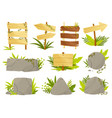 set panels and signposts in jungle styleb vector image