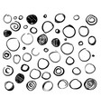 set scribble circles vector image vector image