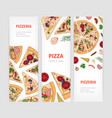 set vertical banner templates with appetizing vector image