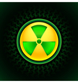 sign of radiation green vector image