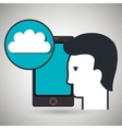 smartphone app silhouette vector image vector image