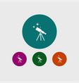 telescope icon education vector image vector image