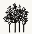 trees vintage monochrome concept vector image vector image
