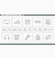 video and audio equipment icons - set web and mobi