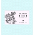 vintage card with lilac flower vector image vector image