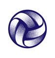 volleyball halftone symbol vector image vector image