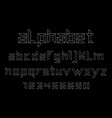 white of font and alphabet vector image