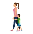 woman and child walking design vector image
