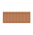 wooden fence isolated on white vector image vector image