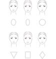 Female face set vector image