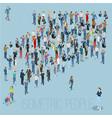 people crowd arrow vector image