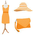 Woman dress and accessories vector image
