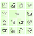 14 king icons vector image vector image