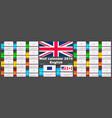 2019 english wall calendar two iso 8601 templates vector image vector image