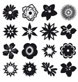 a set of silhouettes of flowers vector image vector image