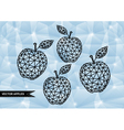 Abstract triangle apples with background vector image vector image