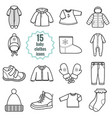 baby clothes set vector image vector image