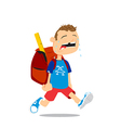 Back to school boy vector image vector image