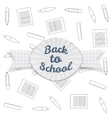Back to School paper Badge with Ribbon vector image