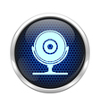 Blue honeycomb web cam icon vector image vector image