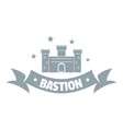 building bastion logo simple gray style vector image vector image