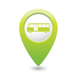 bus icon green map pointer vector image vector image