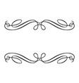 calligraphic design element monochrome vector image