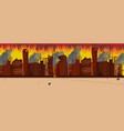 cartoon burning city building vector image