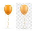 celebratory orange transparent balloons pumped vector image vector image