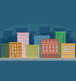 cityscape with colorful residential and public vector image