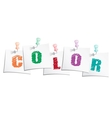 Color text vector image vector image