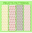 colorful seamless pattern bananas watermelons vector image vector image