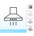 cooker hood simple black line icon vector image vector image