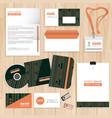 corporate identity template design vector image vector image