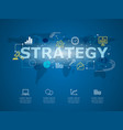creative infographic of business strategy with vector image