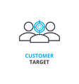 customer target concept outline icon linear vector image vector image