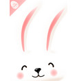 easter poster with cute funny smiling rabbit vector image vector image