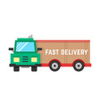 fast delivery through big truck vector image vector image