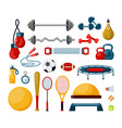 fitness tools flat set vector image vector image