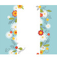 floral spring graphic design with colorful flowers vector image vector image